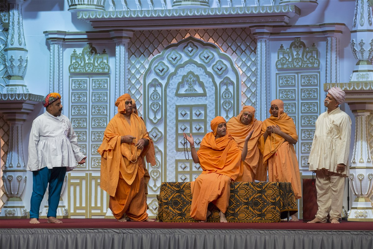Devotees also enacted inspiring episodes from the life of Gunatitanand Swami...