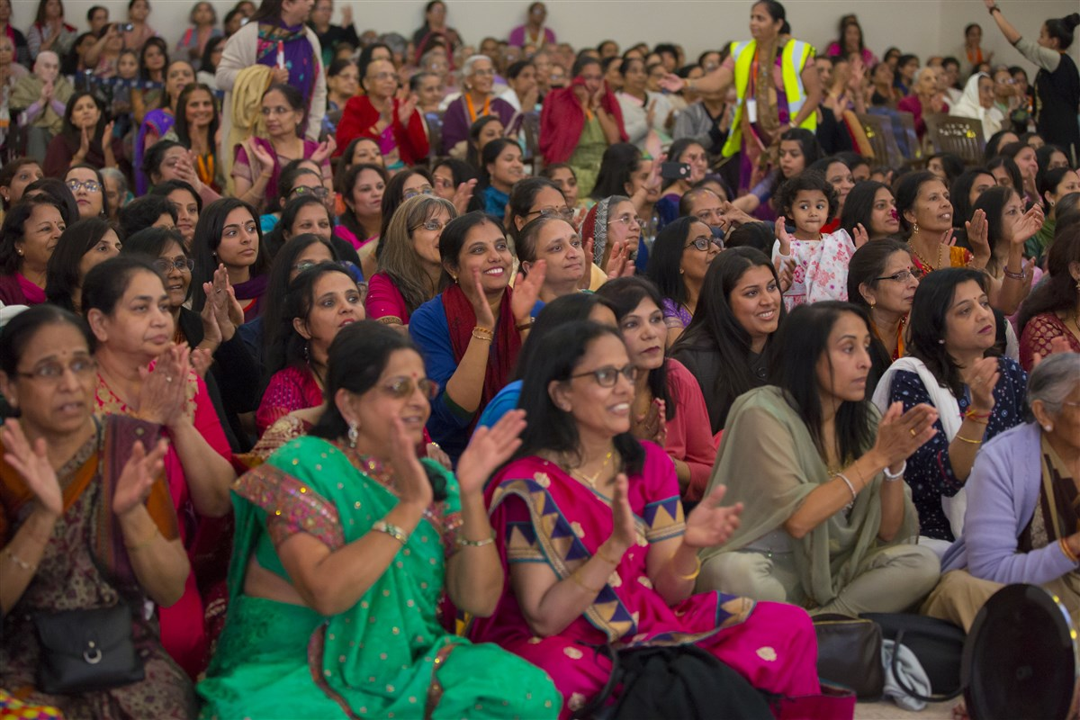 Devotees from all over the country have gathered for the welcome assembly