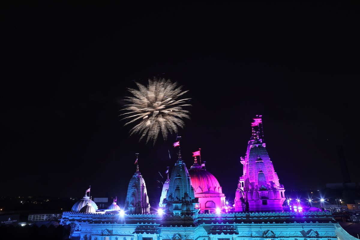 The Mandir hosts one of the largest Diwali celebrations in the UK