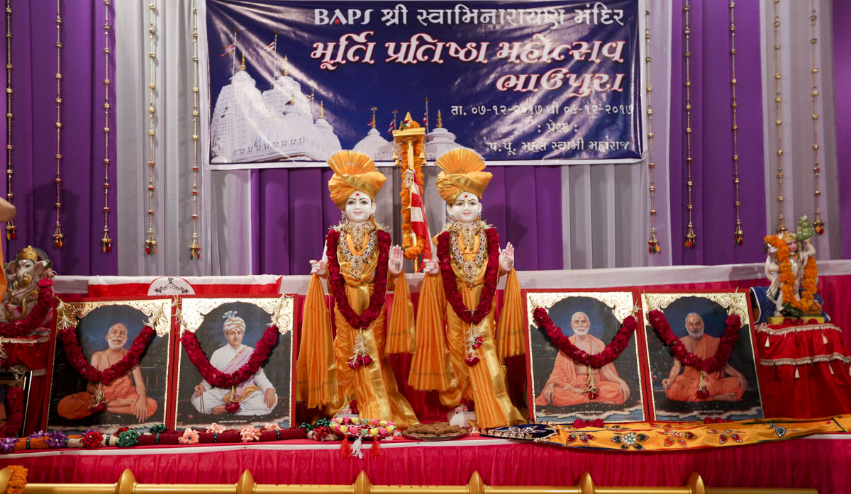 Murtis to be consecrated at new BAPS Shri Swaminarayan Mandir, Bhaupura, Gujarat, India