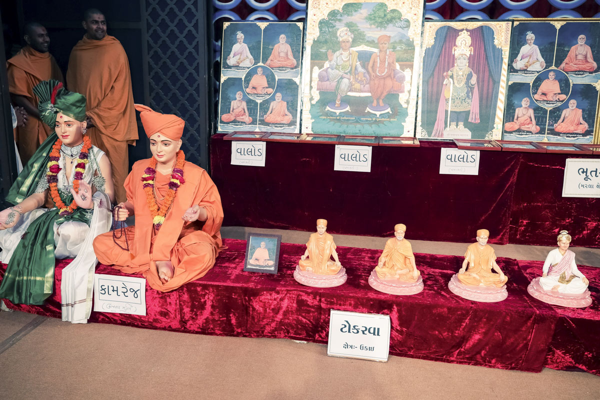 Murtis to be consecrated at BAPS Shri Swaminarayan Mandirs, Kamrej, Tokarva and Valod, India