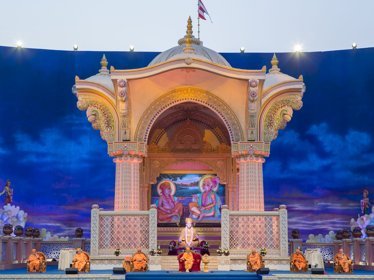 "Shri Akshar Deri Sardh Shatabdi Mahotsav<br><a href=""http://www.baps.org/akd150"" target=""blank"" style=""text-decoration:underline; color:blue;"" >For more photos</a>"