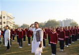 Students and Staff during the Flag Hoisting ceremony
