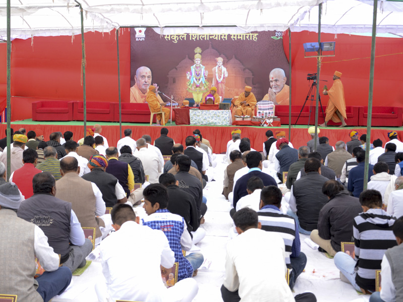 Foundation-stone laying ceremony for new mandir complex, Jodhpur, Rajasthan, India