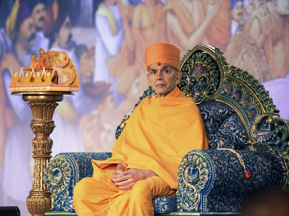 Swamishri during diksha ceremony