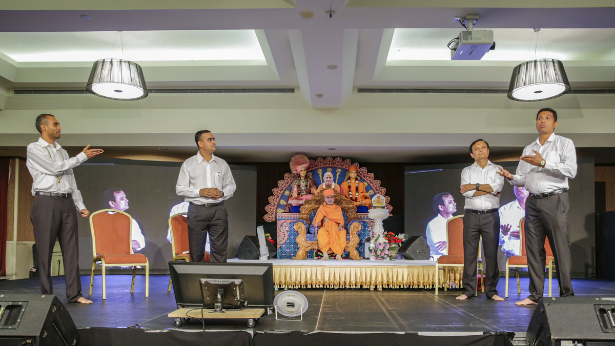 A skit presentation by devotees