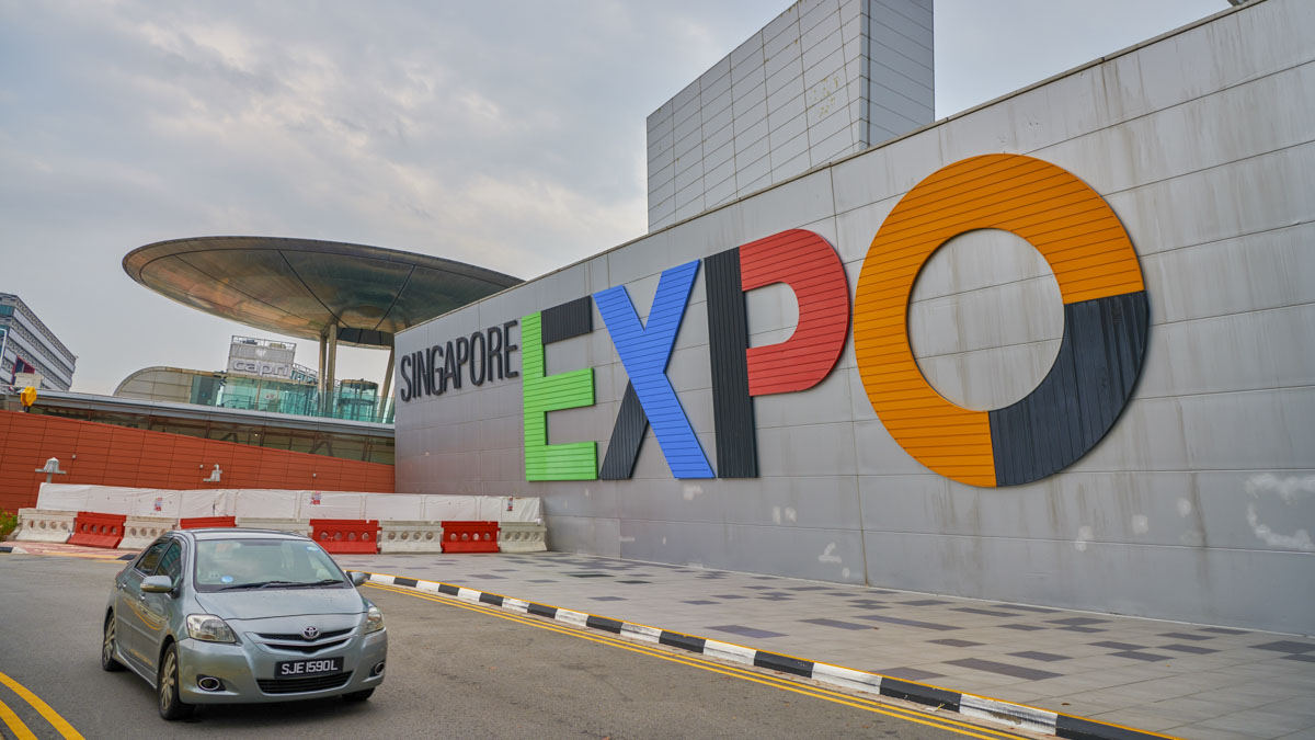 Singapore Expo: venue for the evening satsang assembly