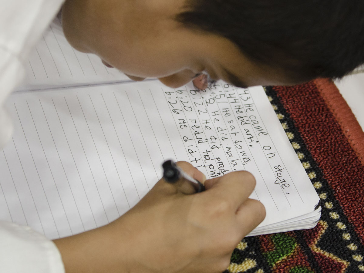 A child writes in his diary