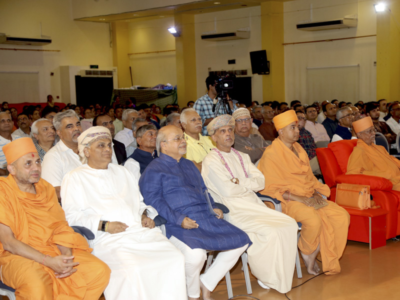 Sadhus, devotees and well-wishers during the assembly