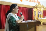 Smt. Bhartiben Bhavasar shared some inspiring ideas with students.