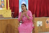 Dr. Upasana Patel interacting with students at campus