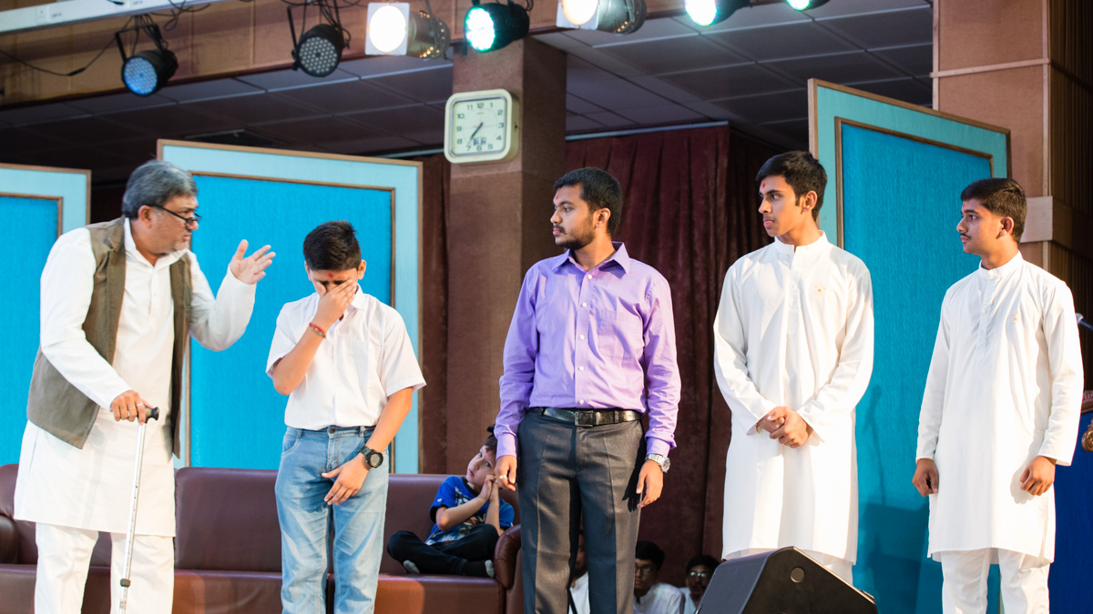 A skit presentation by youths