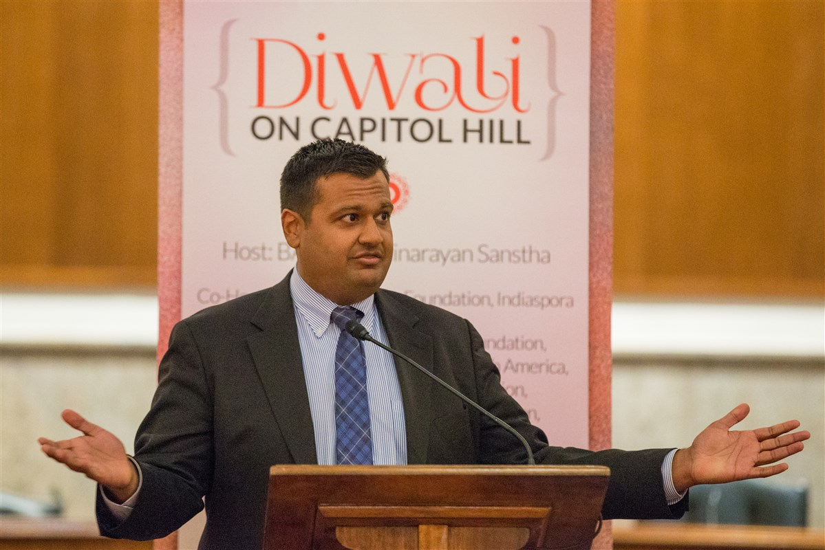 White House Principal Deputy Press Secretary and Deputy Assistant to the President Raj Shah addresses the assembly