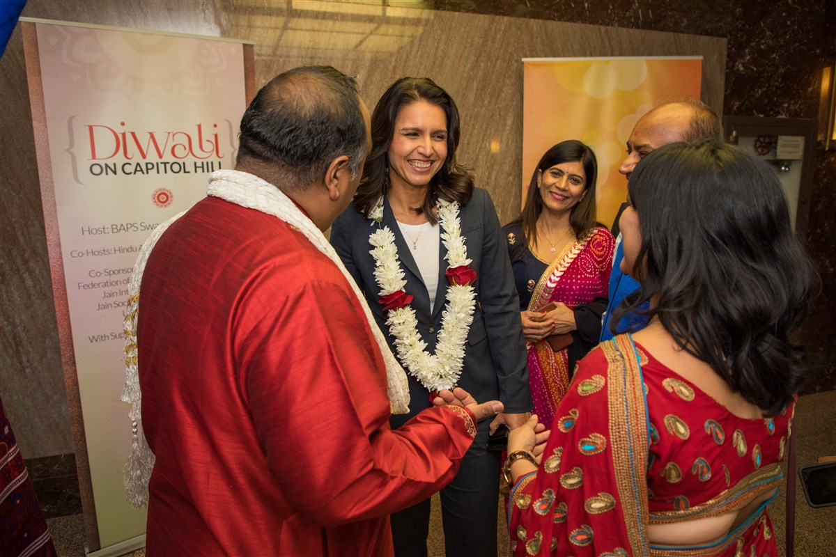 Congresswoman Tulsi Gabbard (HI-2) interacts with guests