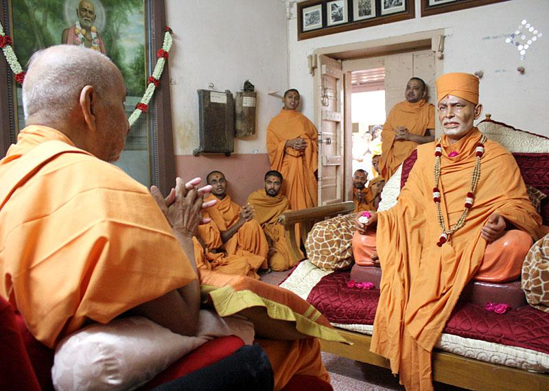 ... in Shastriji Maharaj's room