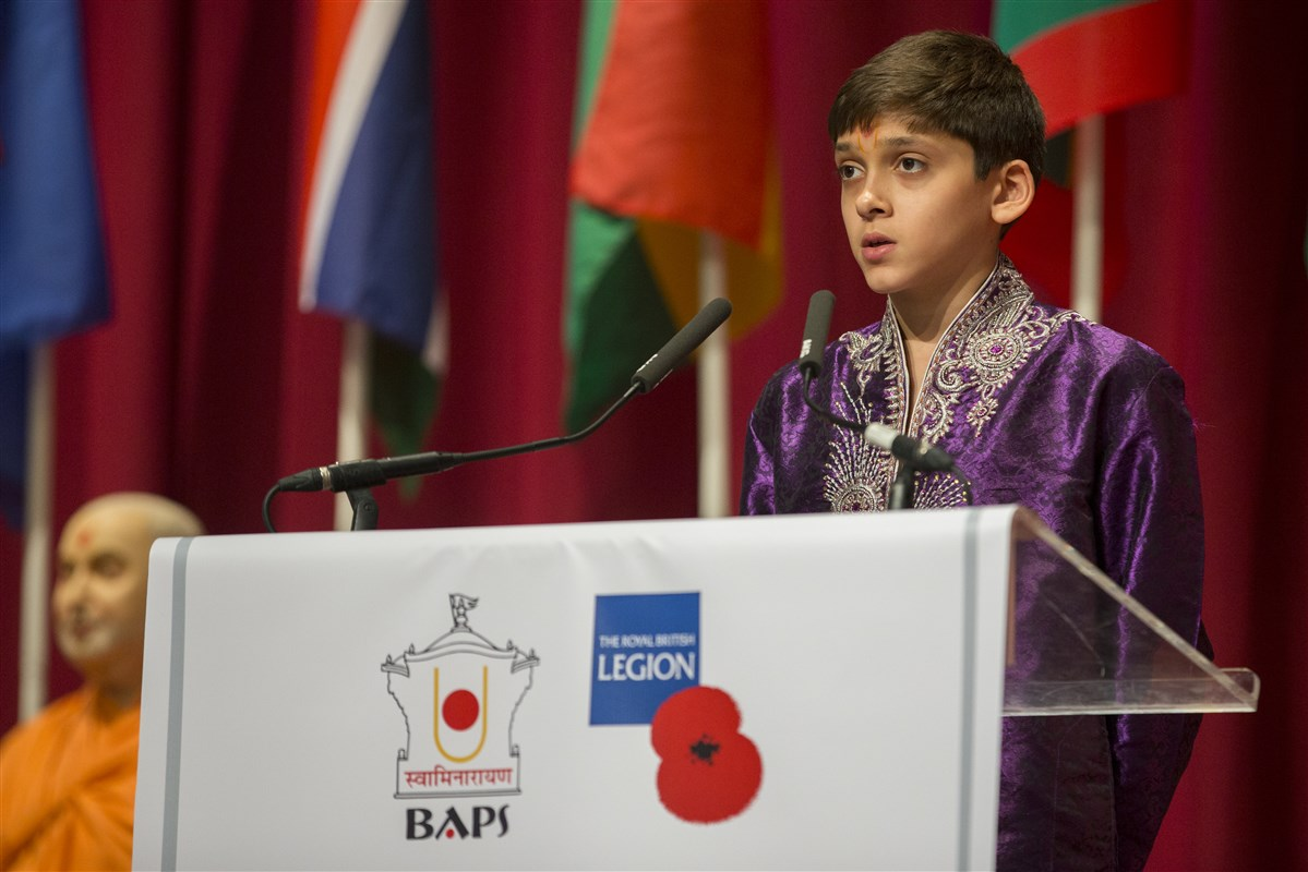 Two children recited 'Gift of India', a poem by Sarojini Naidu