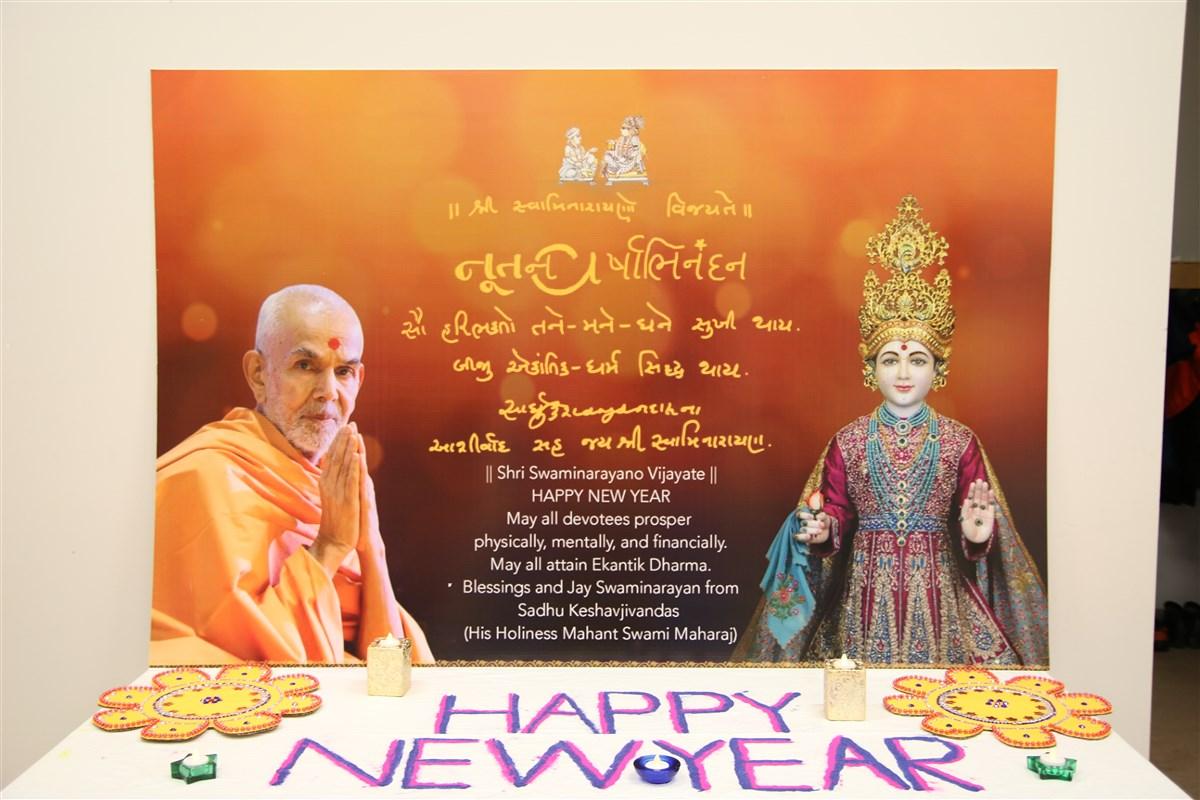 Happy New Year Mahant Swami 75
