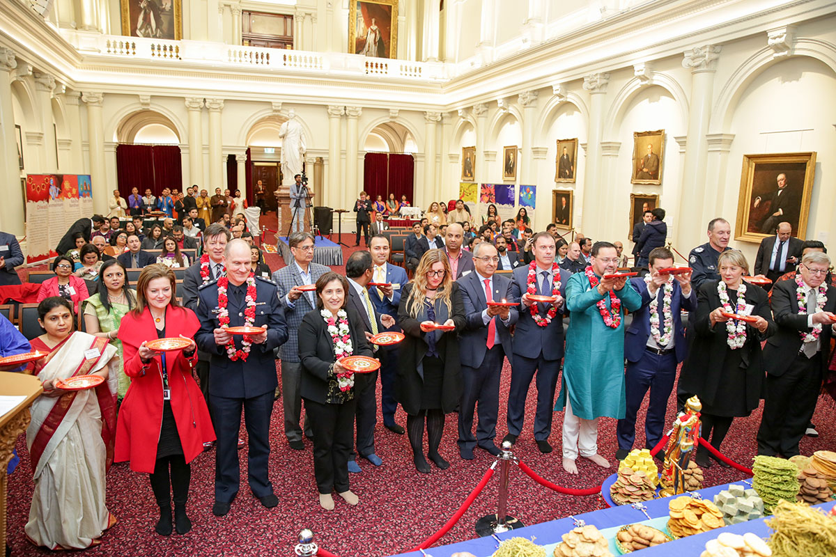 Diwali and Annakut Celebrations at the Parliament of Victoria, Melbourne, 2018