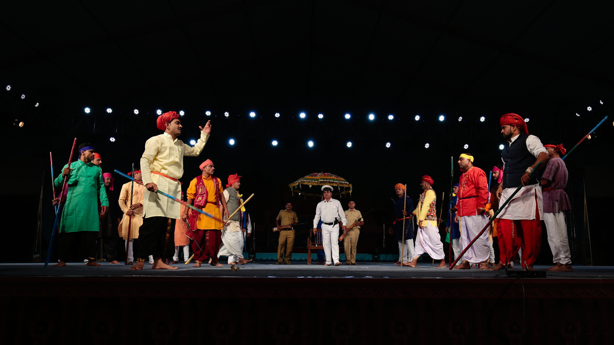 Cultural program presented by children and youths