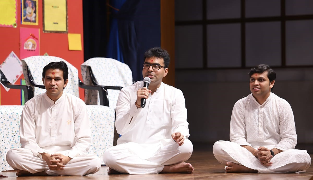 Youths presents before Swamishri