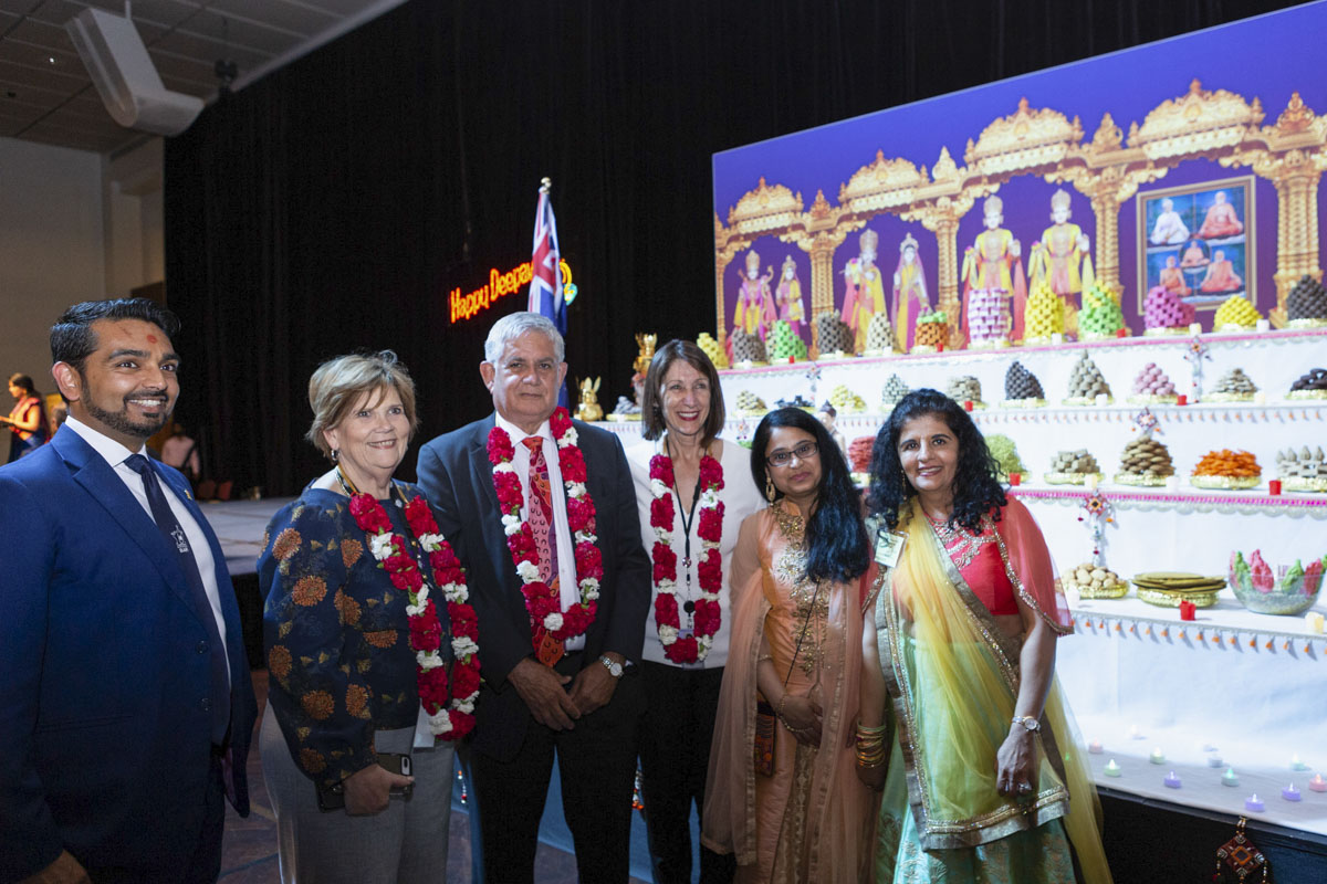 Diwali and Annakut Celebrations and Inaugural Hindu Festivals Exhibition at Australian Federal Parliament, Canberra