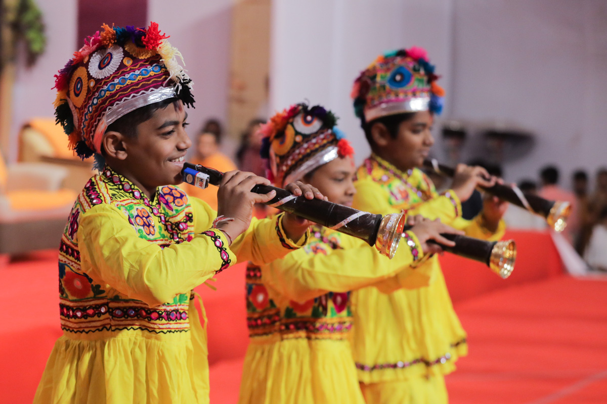 Children perform a traditional dance