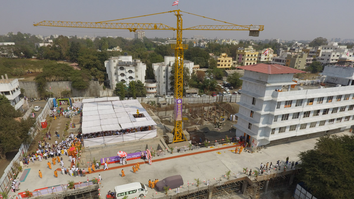 First pillar placement celebration for the new BAPS Shri Swaminarayan Mandir, Nashik