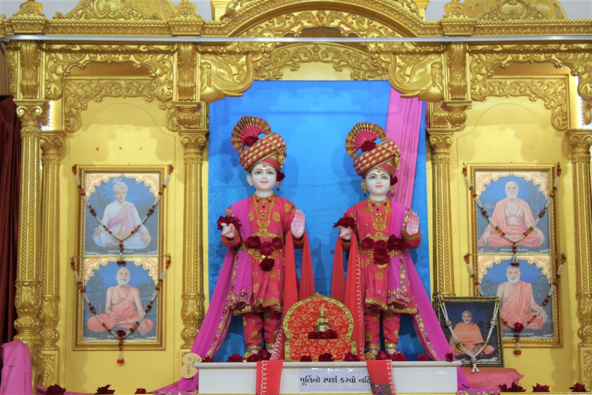 Beautifully adorned murtis at SVM Randesan on occasion of IWD 2019