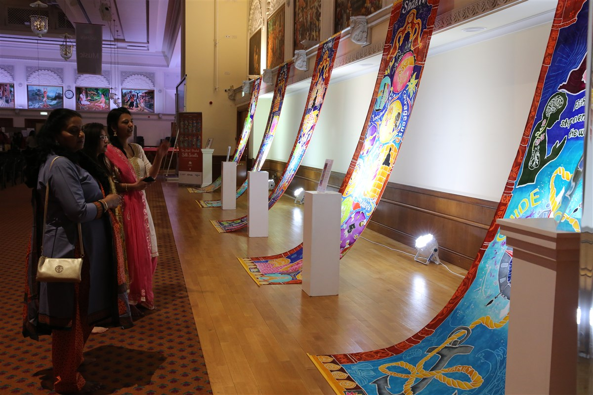 Each of the 4-metre scrolls was conceptualised, designed and crafted over 3 months by female volunteers
