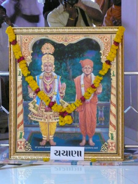 Murtis for the new BAPS Shri Swaminarayan Mandir, Chachana, India