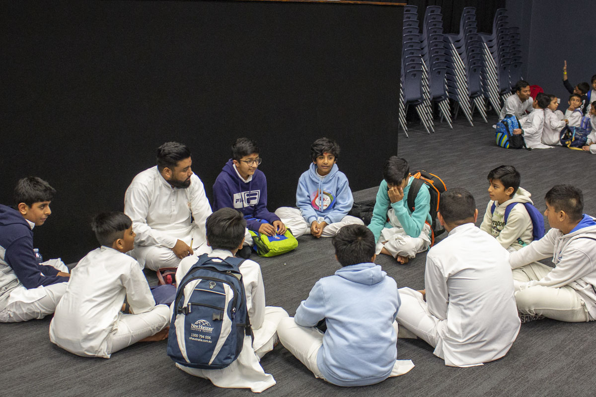 Balaks participate in the group activity