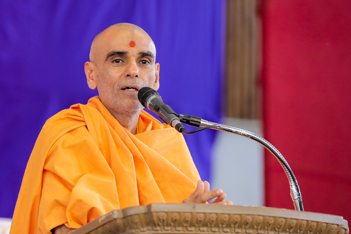 Anandswarup Swami addresses the assembly