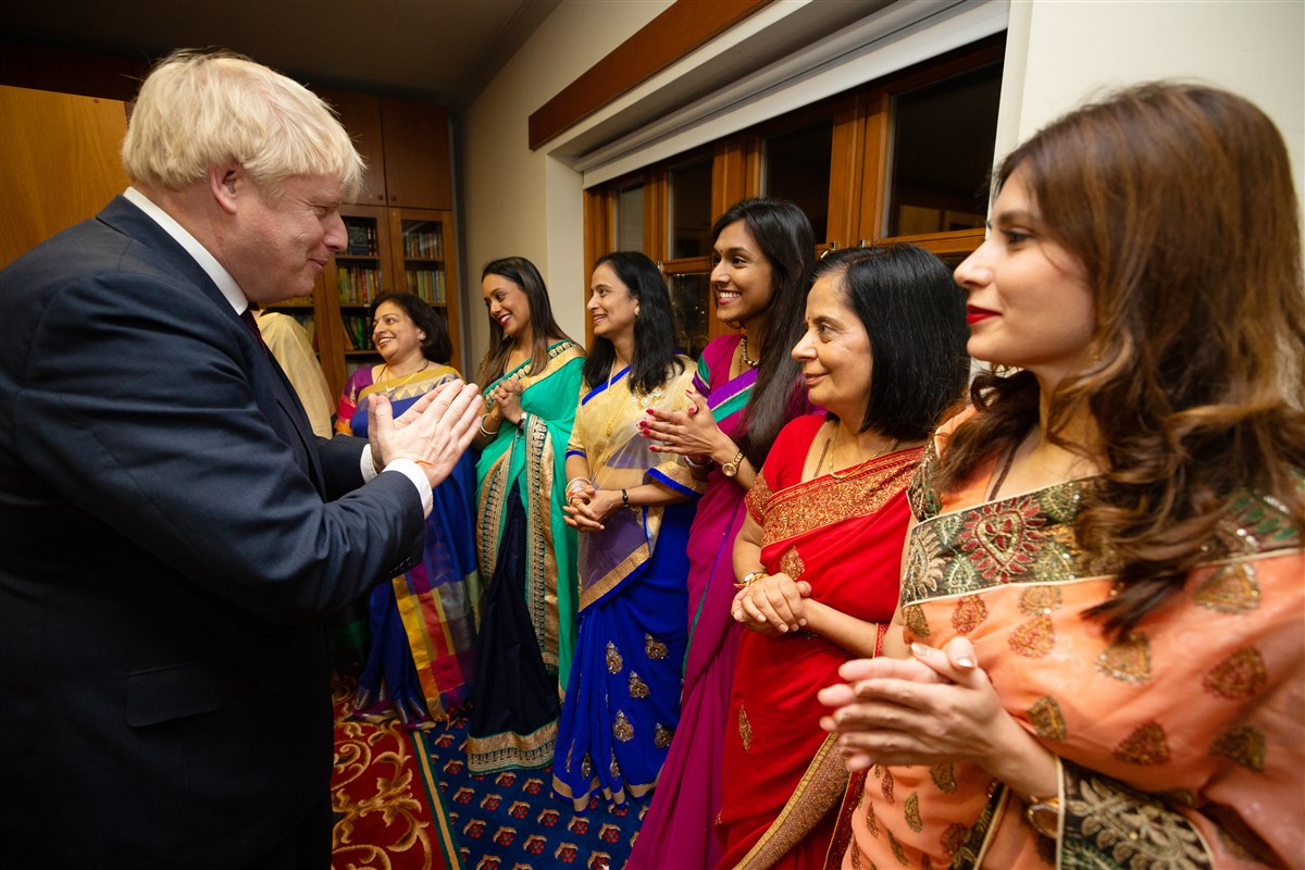 The Prime Minister met with senior BAPS volunteers
