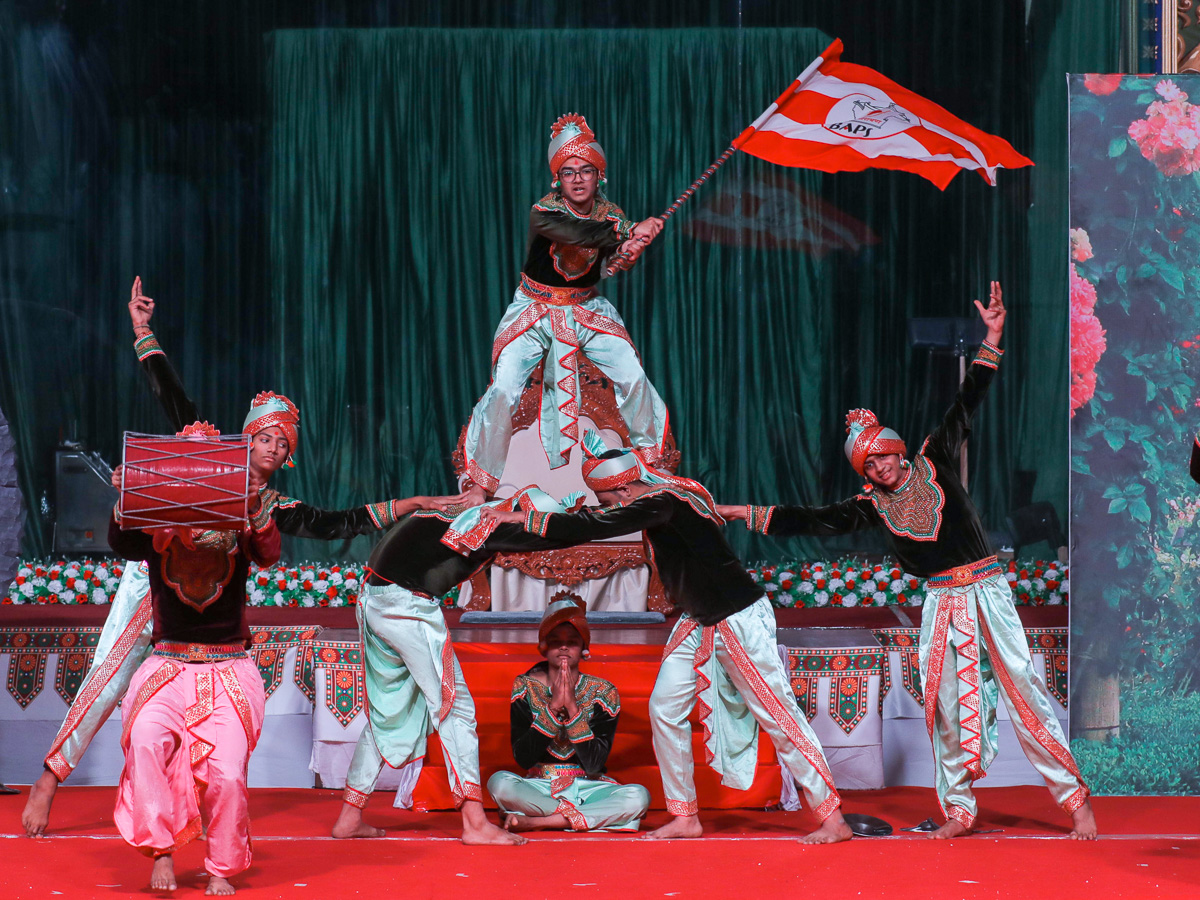A traditional dance by students