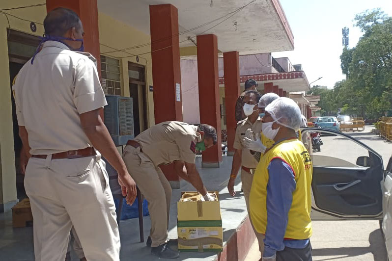 BAPS Community Services During the Coronavirus Lockdown, Jaipur