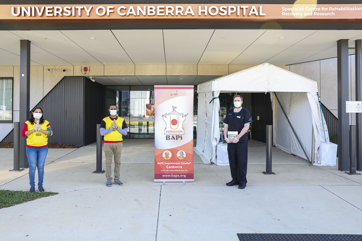 BAPS Provides Assistance During Coronavirus Pandemic, Canberra