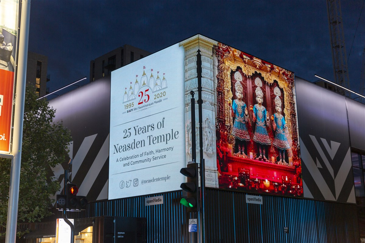 London Mandir 25th Anniversary Celebrations in the Community