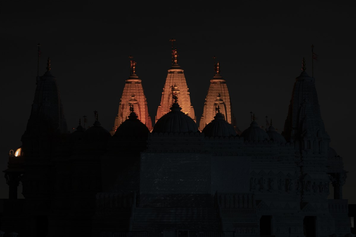 BAPS Shri Swaminarayan Mandir, Chicago, IL joined iconic landmarks across the nation to honor the lives lost to COVID-19
