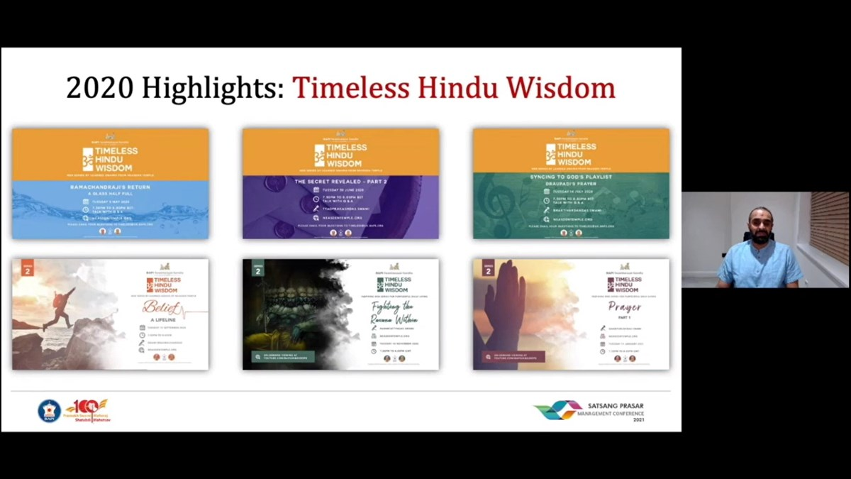 <a href='https://youtube.com/playlist?list=PLTBshFmiHbaBYa0pfqnSpnaAdw57VfMOj' target='blank' style='text-decoration:underline; color:blue;' >Timeless Hindu Wisdom</a>, a special web series delivering life-enhancing teachings from ancient Hindu scriptures in a contemporary, bite-sized format, has proven to be very popular