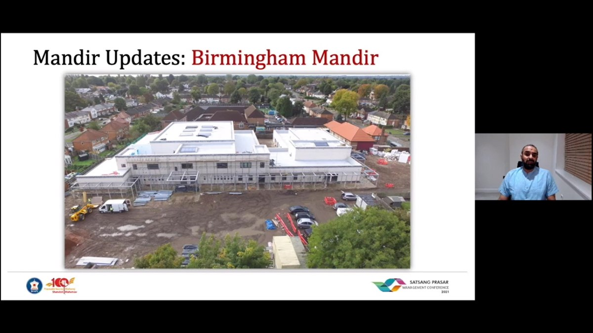 "Even amid the pandemic, key projects progressed, albeit slower than originally planned, including the new mandir in <a href=""https://www.baps.org/News/2016/New-Mandir-Project-18009.aspx"" target=""blank"" style=""text-decoration:underline; color:blue;"" >Birmingham</a>, UK..."