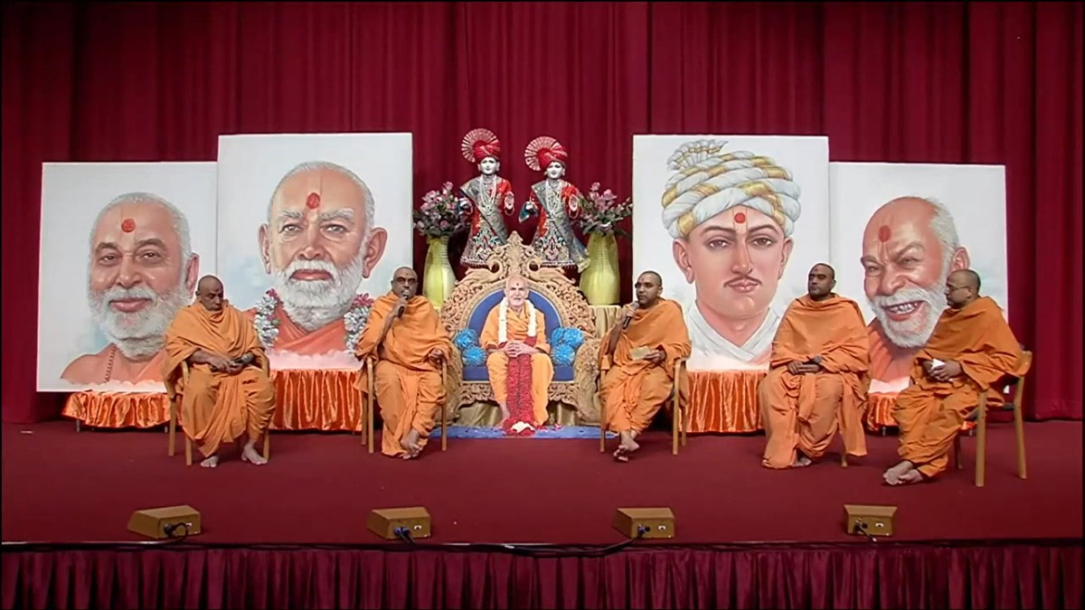 During a panel discussion, swamis at London Mandir shared insights into some of the upcoming projects celebrating Pramukh Swami Maharaj's centennial birth anniversary