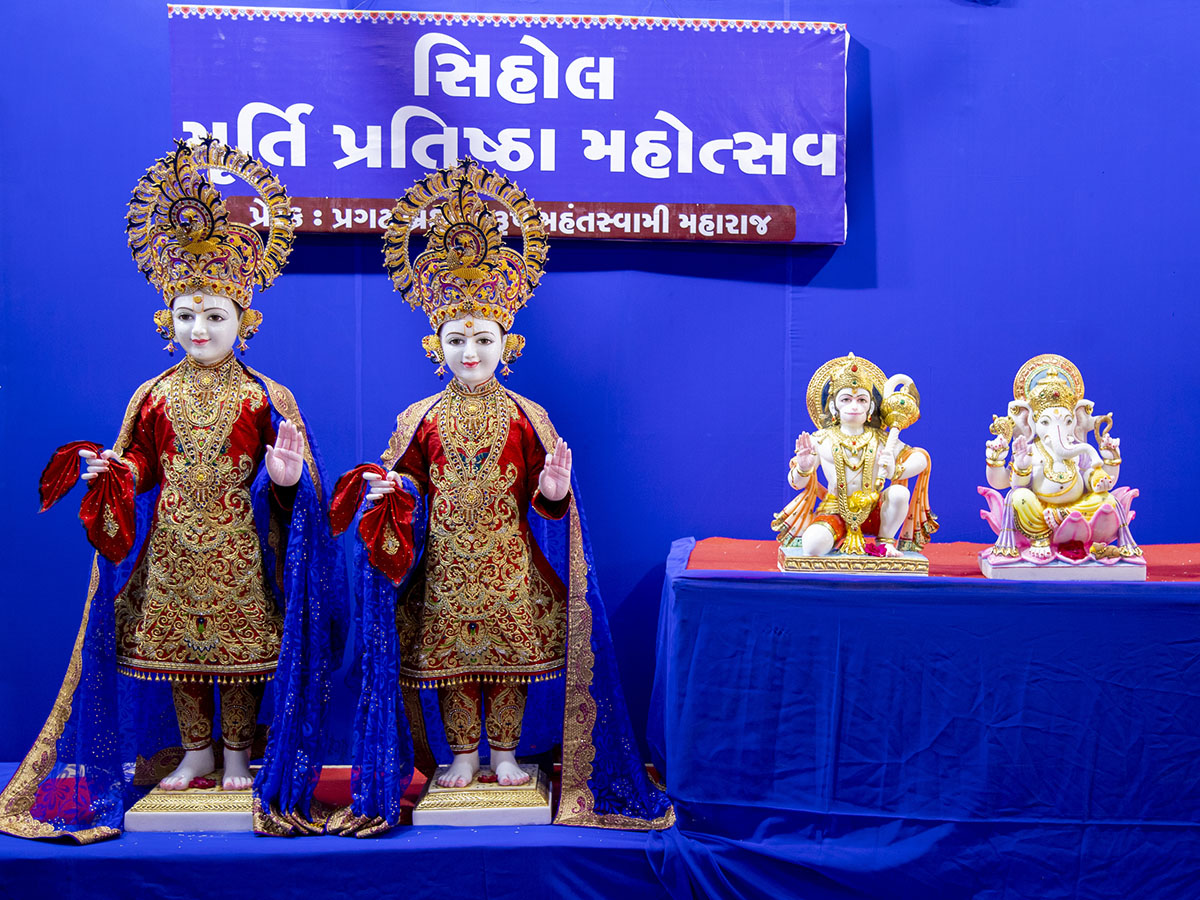 Murtis to be consecrated at BAPS Shri Swaminarayan Mandir, Sihol, India