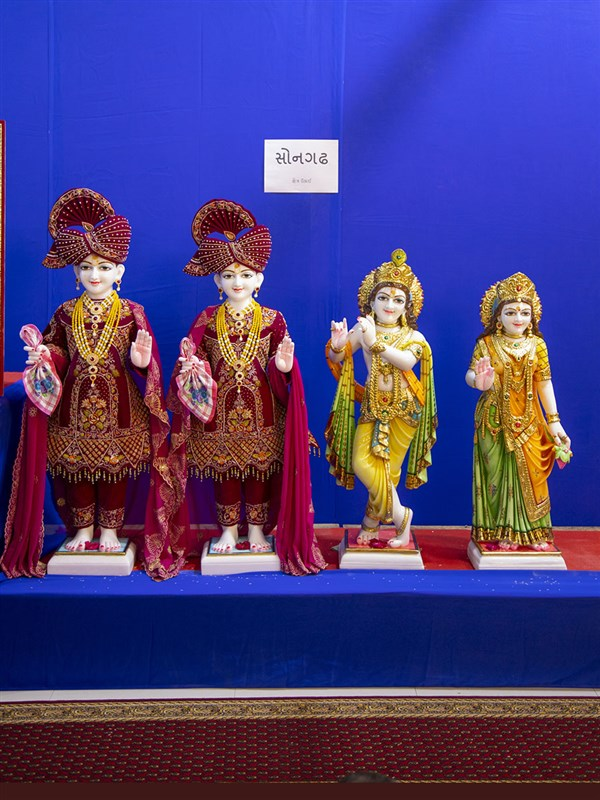 Murtis to be consecrated at BAPS Shri Swaminarayan Mandir, Songadh, India