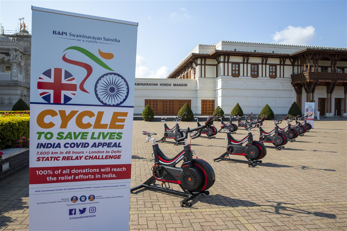 Cycle Challenge Raises Over 4,000 in Six Days for India's Covid-19 Relief Work, UK %26 Europe – Hindu Press International – Hindu Press International