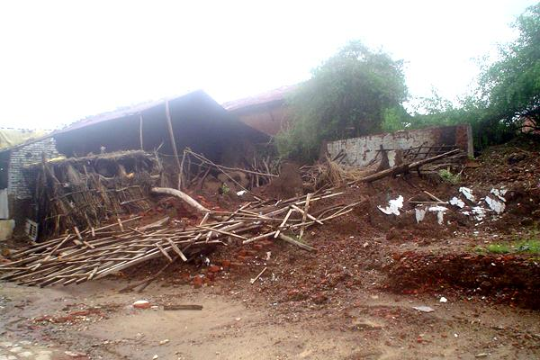 Widespread damage caused by recent floods,Kanbha