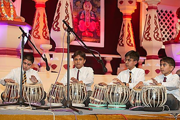 The children performed a tabla talent show