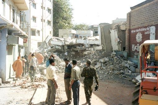Relief Work at Bhuj in Early Days   -
