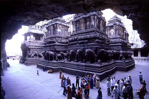 The Kailash mandir is the most famous of all 34 cave temples of Ellora