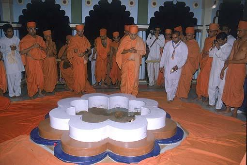 The Yagnakund where the Yagna was performed by Lord Swaminarayan