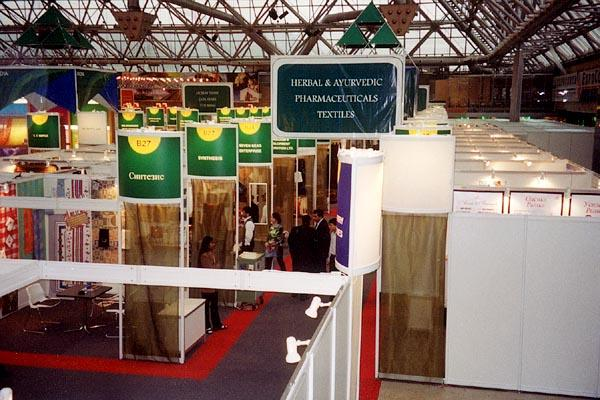 A view of the exhibition booths